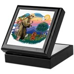 St Francis #2/ Cavalier (r) Keepsake Box