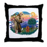 St Francis #2/ Cavalier (r) Throw Pillow