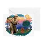 St Francis #2/ Cavalier (r) Greeting Card