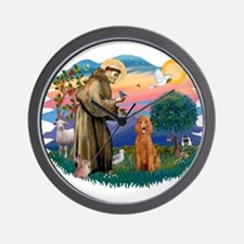 St Francis #2/ Poodle (Std-Ap) Wall Clock