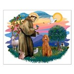 St Francis #2/ Poodle (Std-Ap) Small Poster
