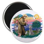 St Francis #2/ Poodle (Std S) Magnet
