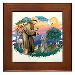 St Francis #2/ Poodle (Std S) Framed Tile