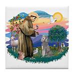 St Francis #2/ Poodle (Std S) Tile Coaster