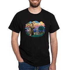 St Francis #2/ Poodle (Std S) T-Shirt