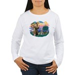 St Francis #2/ Poodle (Std S) Women's Long Sleeve