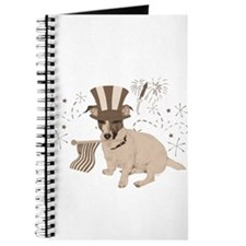 Patriotic Jack Russell with Flag (Vintage) on Jour