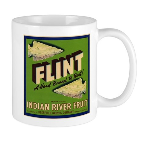 Flint Fruit Crate Label Mug