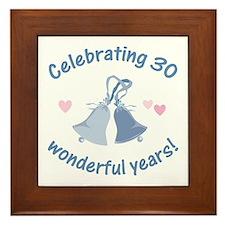 30th Anniversary Bells Framed Tile