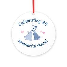 30th Anniversary Bells Ornament (Round)