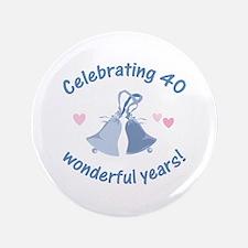 "40th Anniversary Bells 3.5"" Button"
