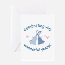 40th Anniversary Bells Greeting Card