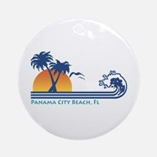 Panama City Beach Ornament (Round)