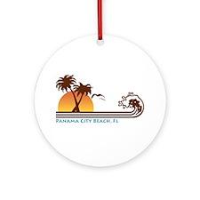 Panama City Beach Ornament (Round)