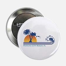 "Panama City Beach 2.25"" Button"