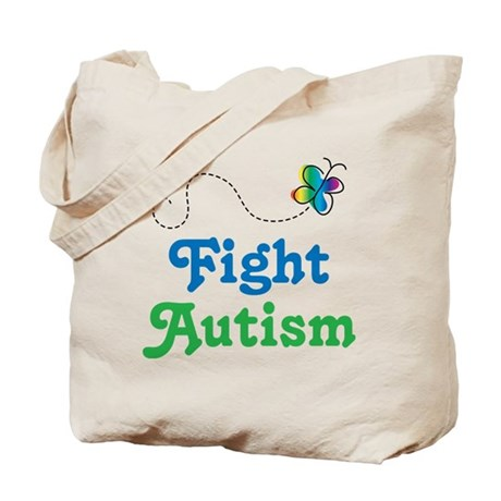 Fight Autism Butterfly Tote Bag