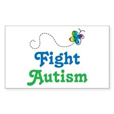 Fight Autism Butterfly Decal