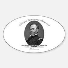 William Sherman 01 Oval Decal