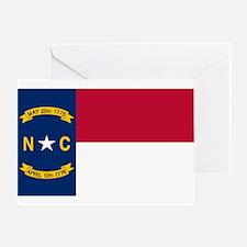 North Carolina Flag Greeting Card