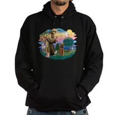 St Francis #2/ Airedale Hoodie