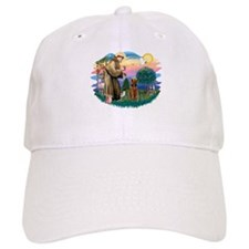 St Francis #2/ Airedale Baseball Cap