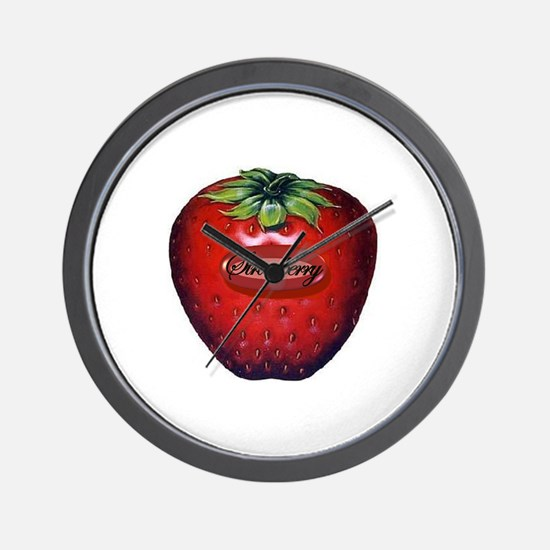 Strawberry 3D Wall Clock