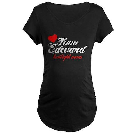 Team Edward Maternity Dark T-Shirt