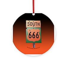 Route 666 Ornament (Round)