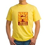Mutants For Nukes Yellow T-Shirt