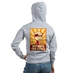 Mutants For Nukes Women's Zip Hoodie