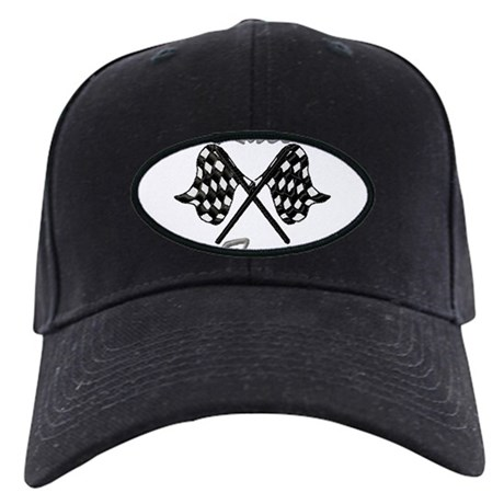 checkered flag Black Cap