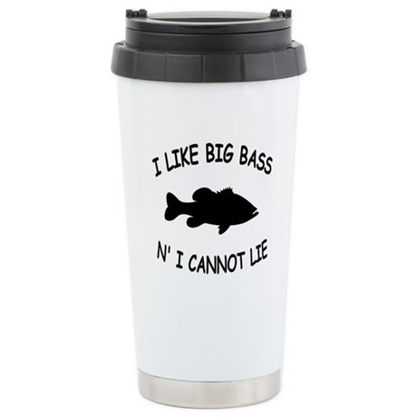 I LIKE BIG BASS N' I CANNOT L Stainless Steel Trav