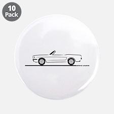 "1965 Mustang Convertible 3.5"" Button (10 pack)"