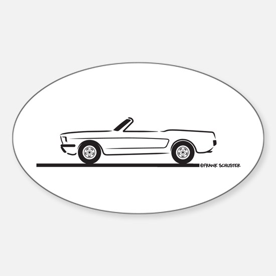 1965 Mustang Convertible Sticker (Oval)