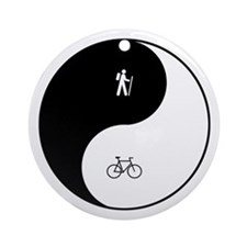 Hiking Biking Yin Yang Ornament (Round)