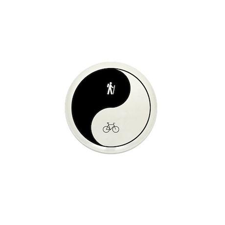 Hiking Biking Yin Yang Mini Button (10 pack)