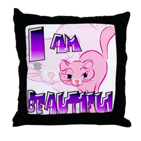 Clip Cat Throw Pillow
