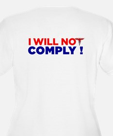 I Will Not Comply Women's V-Neck T-Shirt