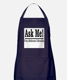 Ask Me! I'm a Reference Libra Apron (dark)