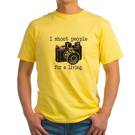 I Shoot People Yellow T-Shirt