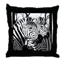 Zebras Throw Pillow