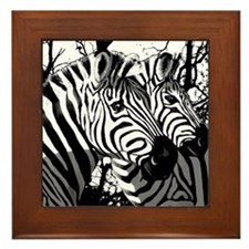 Zebras Framed Tile