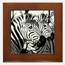 Zebras Framed Tile