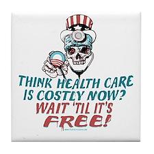 Obama's Health SCARE Tile Coaster