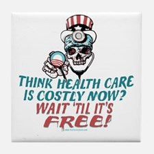Obama's Health SCARE Tile Coaster