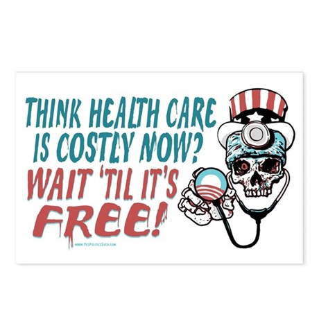 Obama's Health SCARE Postcards (Package of 8)