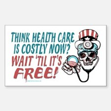 Obama's Health SCARE Sticker (Rectangle)