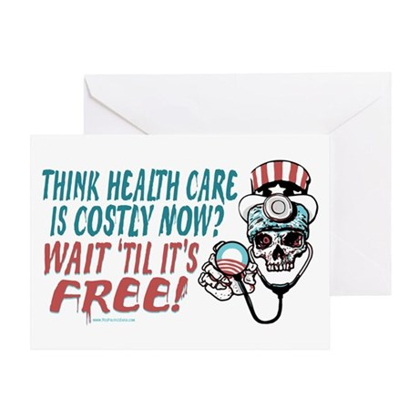 Obama's Health SCARE Greeting Card