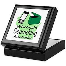 Cute Wisconsin geocaching Keepsake Box