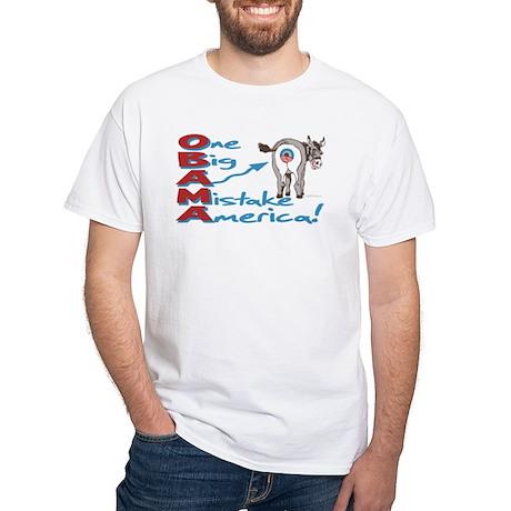 Obama Mistake 2 Sided White T-Shirt